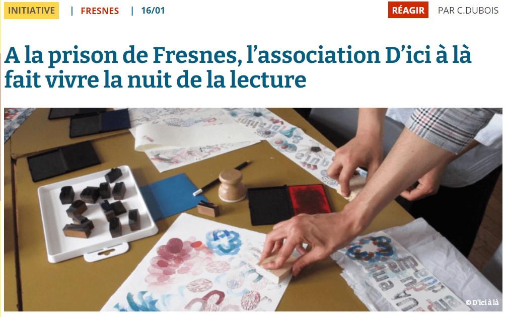 D'ici à Là. Photo article 94 citoyen.com pour la nuit de la lecture